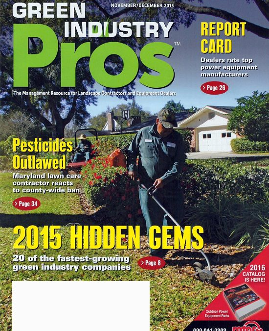 Featured in Green Industry Pros magazine