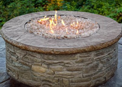 Custom concrete fire pit in Hansville, WA