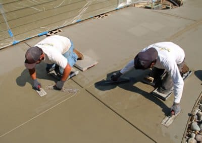 Finishing concrete before stamping concrete in Bremerton, WA