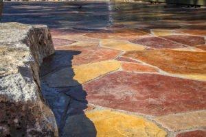 Arizona flagstone decorative stamped and colored concrete in Bremerton, WA