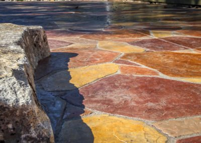 Arizona flagstone decorative stamped and colored concrete in Bremerton, WA