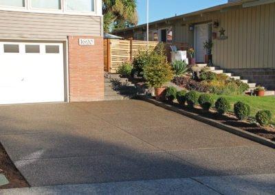 Exposed aggregate concrete driveway in Bremerton, WA