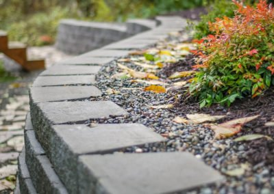 Retaining wall and flagstone pathway in Port Orchard, WA