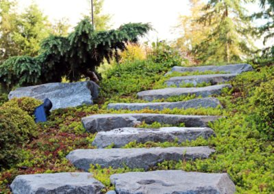 Landscaping rock steps in Seabeck, WA