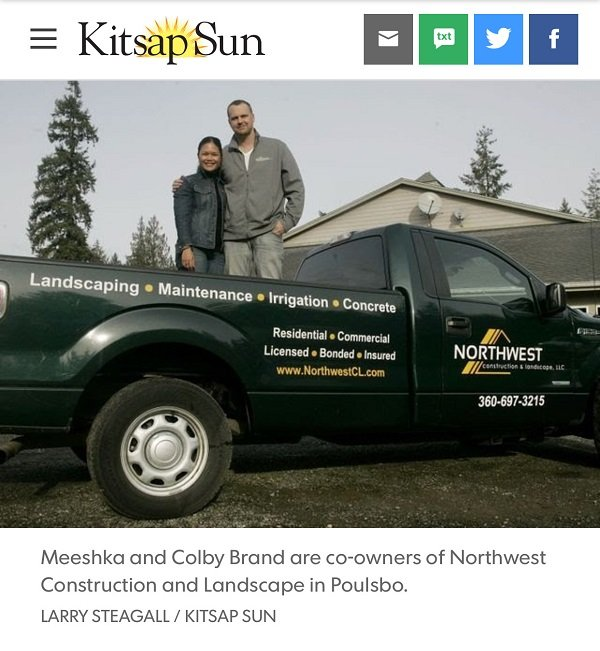 Colby & Meeshka Brand in the Kitsap Sun