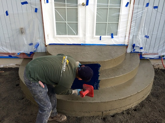 stamped concrete steps kitsap