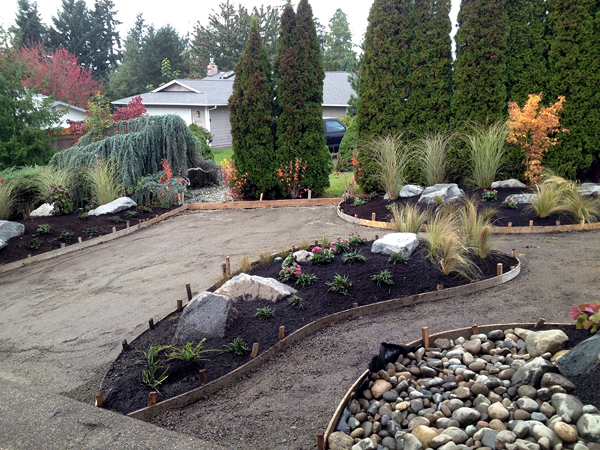 Front yard transformation northwest construction for Landscaping rocks kitsap county