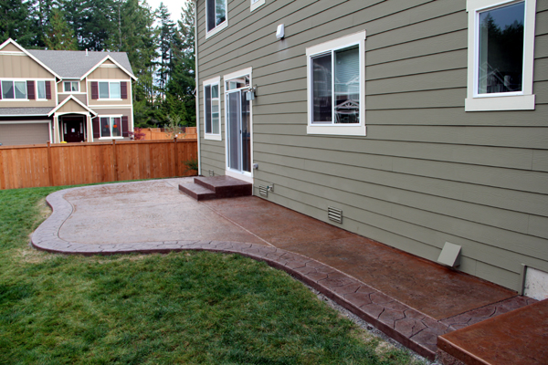 decorative concrete patio poulsbo