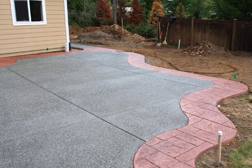 stamped colored concrete for patios driveways